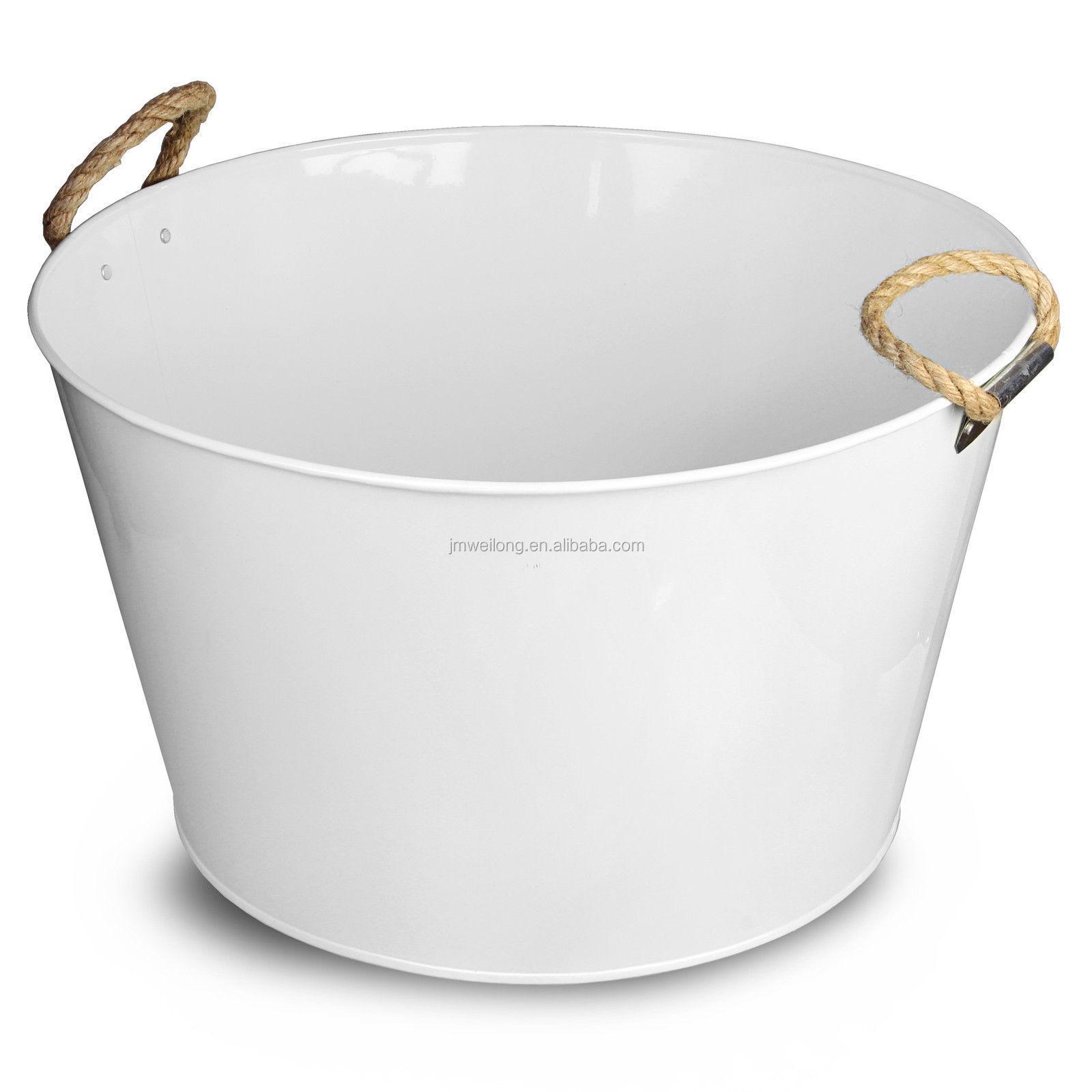 Party Bucket Tub With Rope Handle White Galvanised Steel Drinks Pail Cooler Beer Buy Metal Ice Bucket Beer Cooler Metal Beer Bucket Product On Alibaba Com