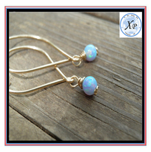 Customize High Quality Opal Minimalis Unique Dungle blue White/Pink Gold Earrings