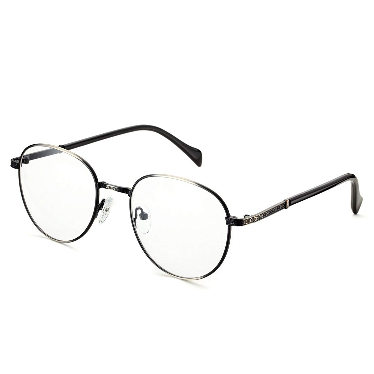 a6fe7584868 Get Quotations · PenSee Optical Frames Metal Unique Designer Oval Round  Eyeglasses Eyewear
