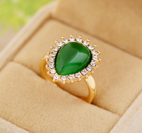 New Style Elegant Gold Ring Designs For Girls,Aquamarine Natural ...