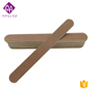 High quality brown double sides wooden disposable nail file with logo