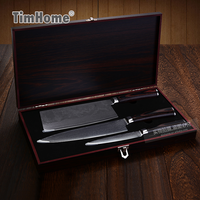 High Quality Japanese Style Damascus Steel Knife Set Kitchen Knives Set With Wooden Gift Box