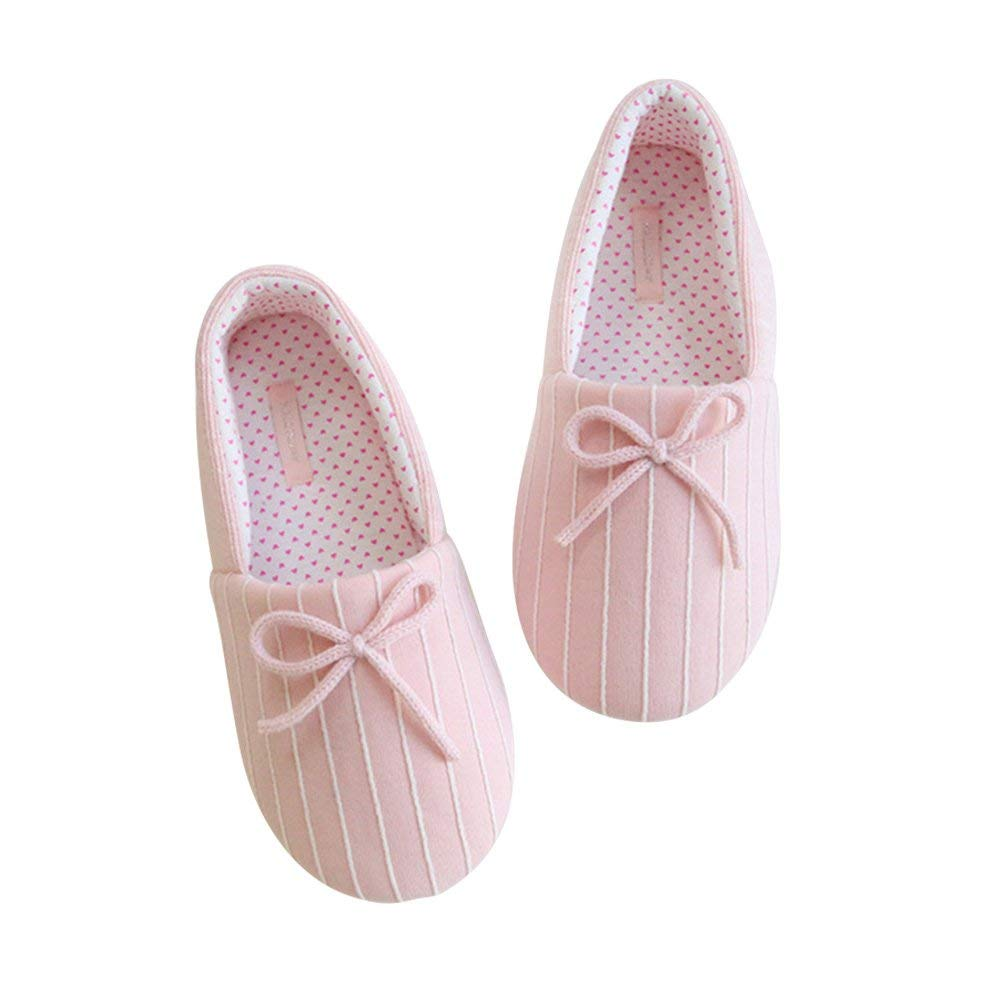 BUYITNOW Women Slippers, Ballet House Shoes & Slip on Indoor Mouse Slippers & Memory Foam Anti-Slip Sole