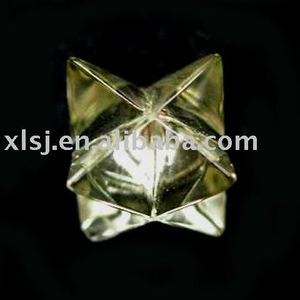 Natural Crystal Citrine Merkaba Pendant