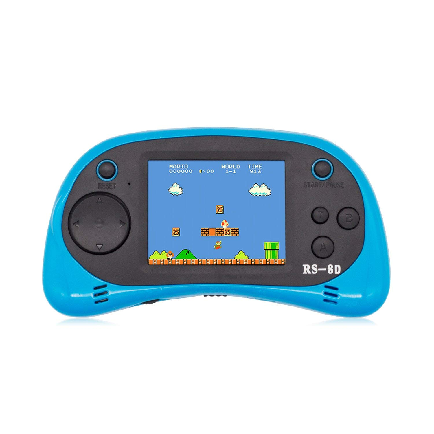 Hades RS-8D Kids Handheld Retro Game Console Built-in 260 Classic Games TV Video Games with 8 Bit Classic Games for Children (Light Blue)