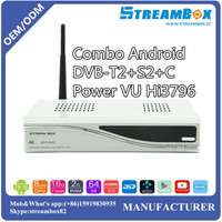 Android Combo DVB-S2+T2+C Power VU Hi3796 USB Blue3.0 IKS CCCam TV IPTV Providers,channels,receiver