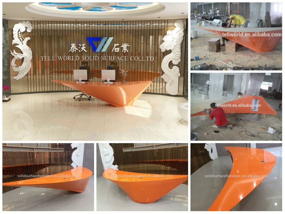 TW Modern Artificial Stone Restaurant Counter Table , Unique Bar Table  Furniture