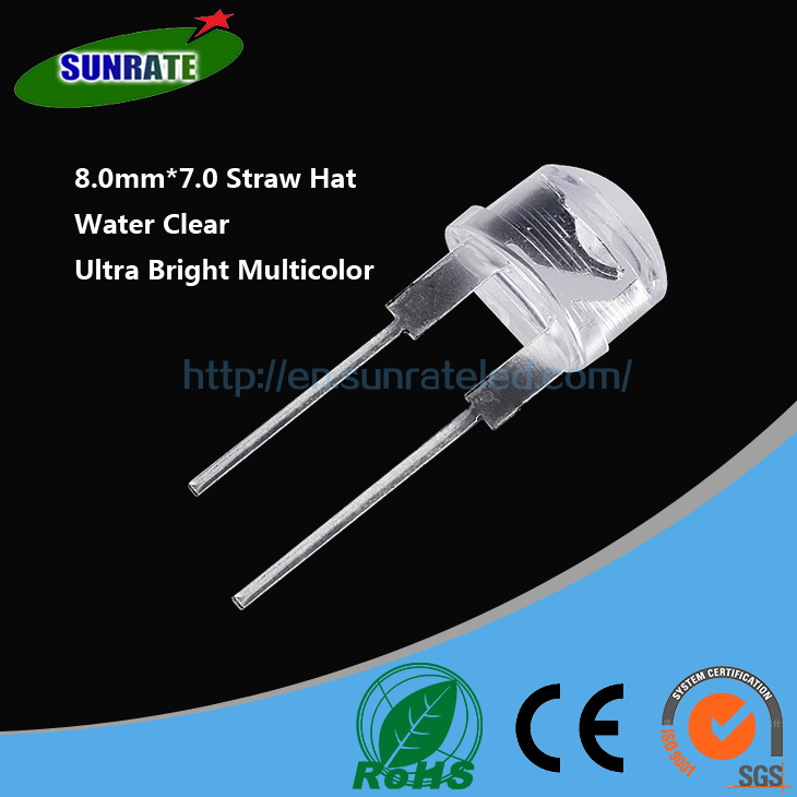 Wholesale Round Straw Hat Flat Top 2mm 3mm 5mm 8mm 10mm Through Hole Led