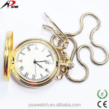 bff533d0dbf Relógios de ouro com corrente relógio de bolso personalizado brinquedo caso  relógio ...