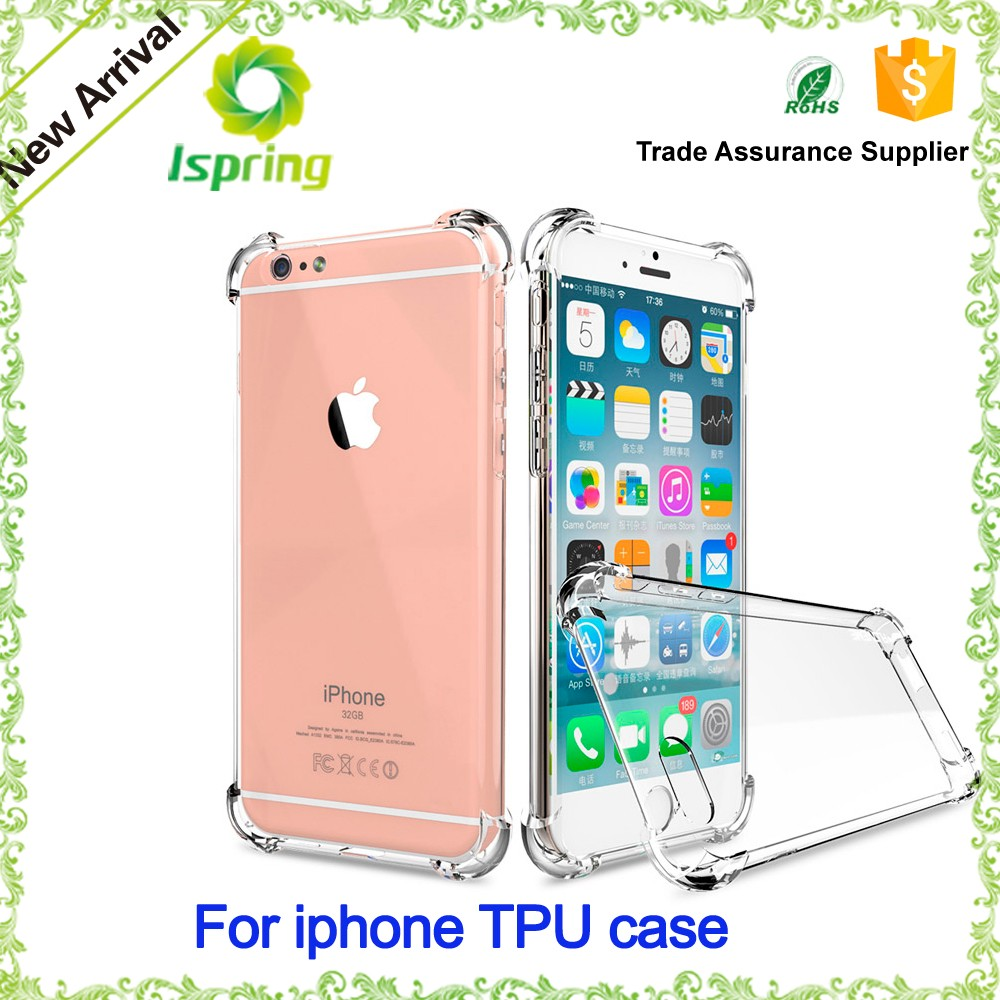Transparent Shockproof Crystal TPU Back Cover For iPhone 7 Plus Soft Silicone Airbag Case