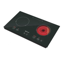 China double burner hybrid cooker induction cooktop infrared hob