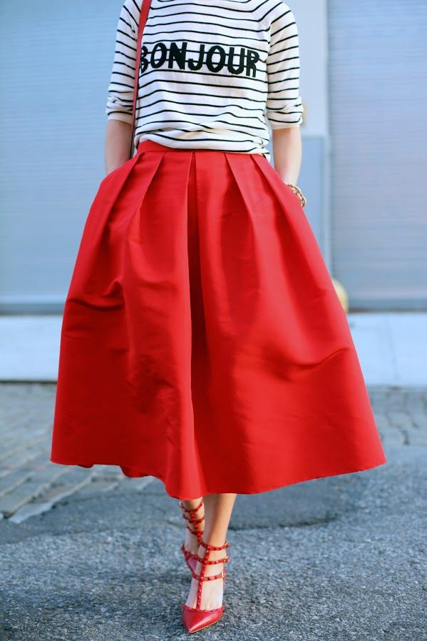 A Line Midi Skirt With Pockets Dress Ala