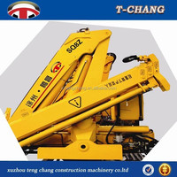 high quality 4ton durable truck loader knuckle boom crane, cargo truck mounted crane factory