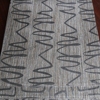 Germany modern curtain design office stripe slub jacquard curtain fabric