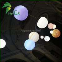 Decorative LED Lighting Planet Balls Inflatable Hanging Planets for Party Decorations