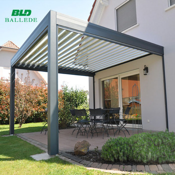 adjustable waterproof roof louver pergola electric buy pergola electric roof louver pergola. Black Bedroom Furniture Sets. Home Design Ideas