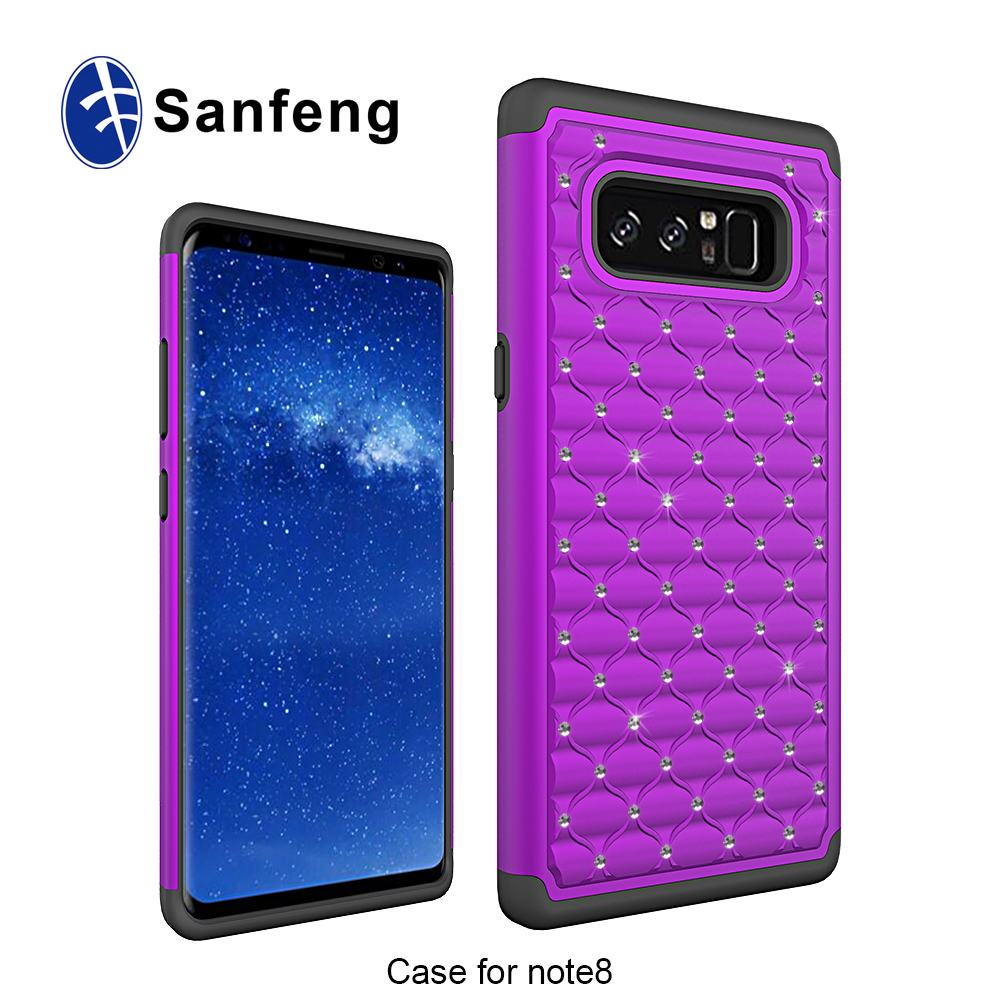 detailed look 653f6 9bcde Amazon Prime Lowest Price Note 8 Mobile Phone Case Cover Bling Diamond  3-in-1 Hybrid Combo Cellphone Case For Sam Galaxy Note 8 - Buy Note 8  Mobile ...
