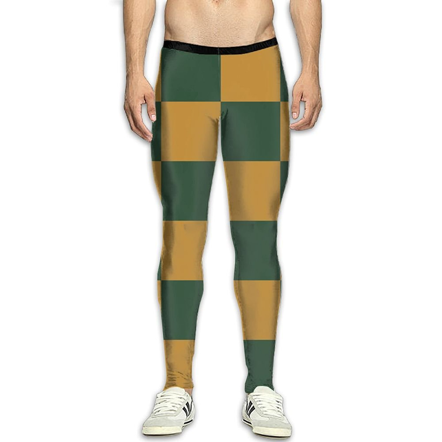 fd270e0ccc70c Get Quotations · Fri Plaid Cool Compression Pants/Running Tights Gym Tights  For Men Runners Side Pocket