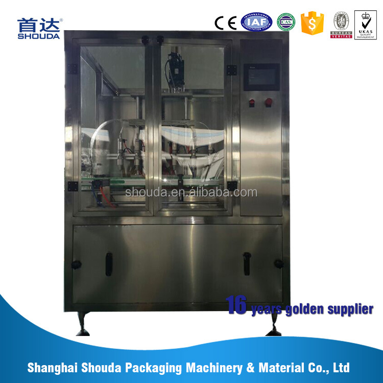 Industrial oil bottling machine with filling nozzle is drip-proof and anti-draw