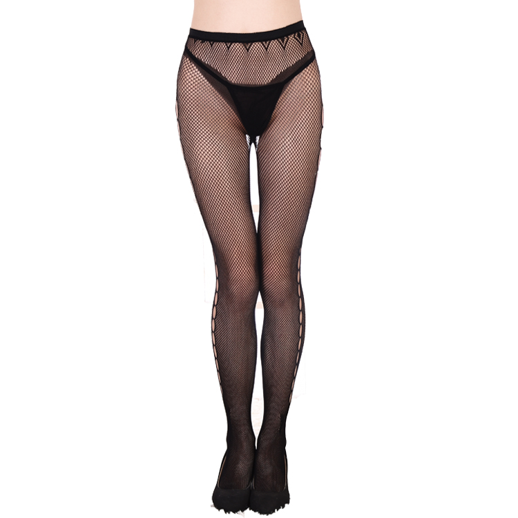 Ann Summers Womens High Waisted Crotchless Tights Semi