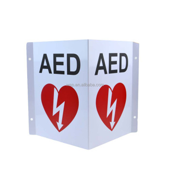 Main WAP 3D V-shaped Outdoor AED Metal safety Wall Sign
