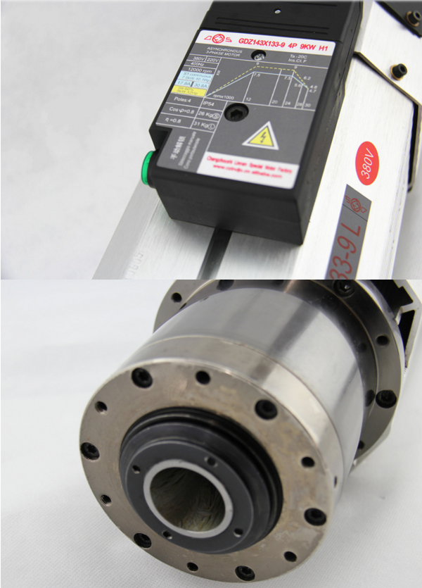 9kw cnc italy hsd atc spindle motor hot sale new product for Motor city spindle repair