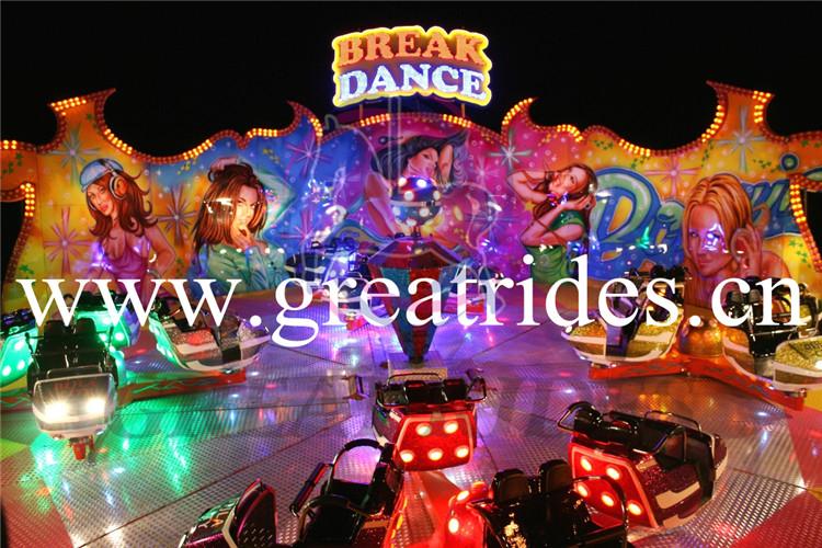 Grande item barato parque de diversões atração elétrica rotary louco break dance passeios para venda