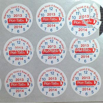 Customized Warranty Sticker Warranty Void If Seal Broken