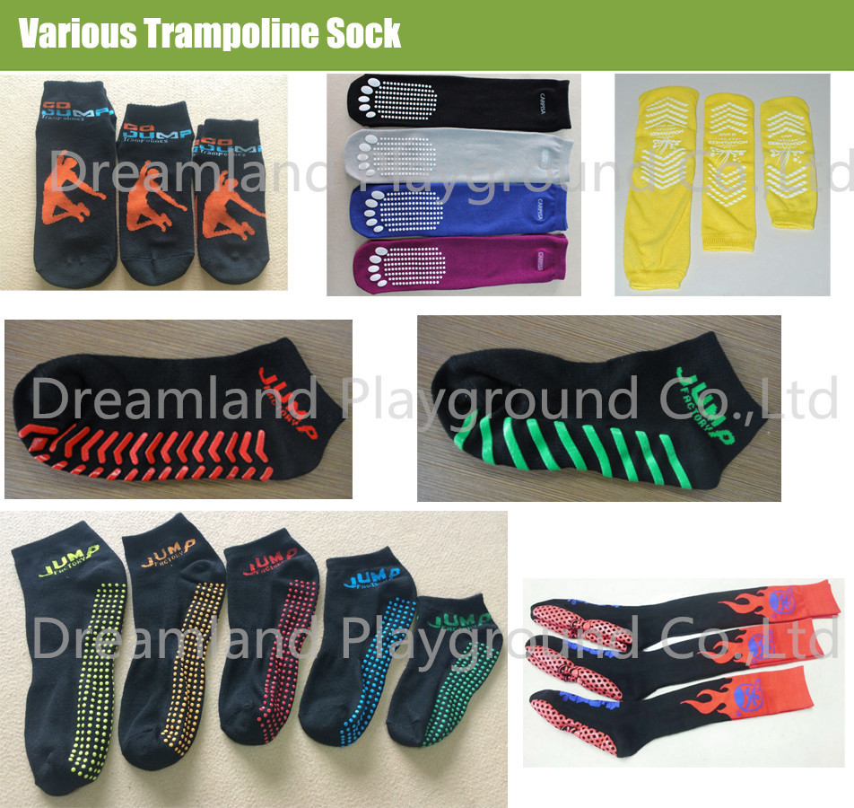 New Arrivals 2018 Compression Trampoline Park Socks,Cheap heated trampoline socks,heated thermal trampoline socks in stock