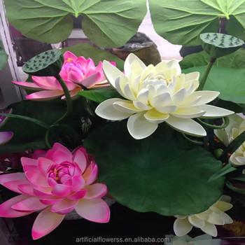 Wholesale large artificial fake silk lotus flower buy silk lotus wholesale large artificial fake silk lotus flower mightylinksfo