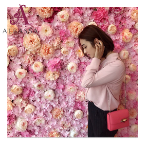 Wedding Occasion and high quality fabric cloth Material rose design wall decoration