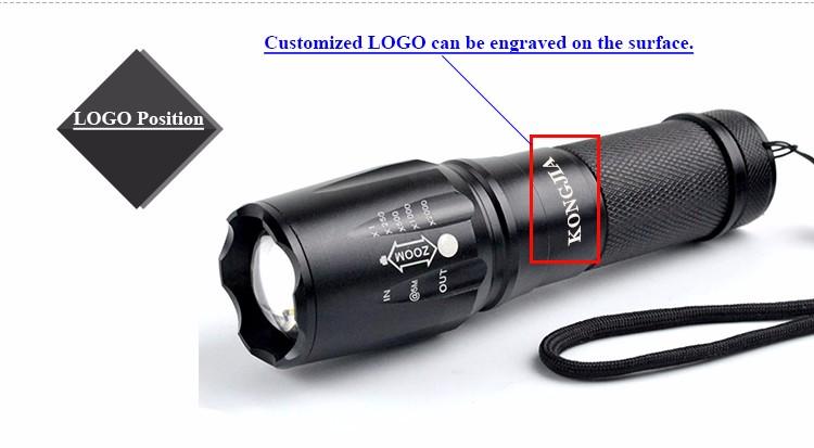 Ultra Bright Aluminum 26650/18650/3*aaa Battery Military 1200 ...