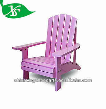 Pink Kids Adirondack Chair , Cape Cod Outdoor Chair ,Hampton Style Deck  Chair