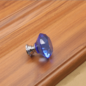 modern Blue bedroom furniture handles crystal pull door handles and knob CRY-0064