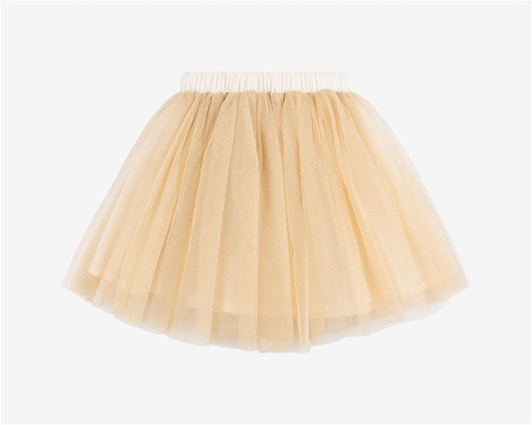 Wholesale 2019 New Girls kids Gold flash Mesh tutu skirt Free Shipping