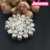 Floral Plastic Pearl Beaded Rhinestone Pin Brooch for Bridal and Wedding or Party Clothing Embellishments 2.0X2.0 inches