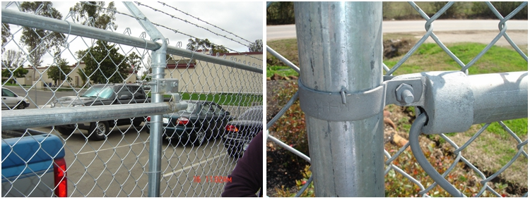 Factory Wholesale ISO & CE Hot Dipped Galvanized 8' Chain Link Fence