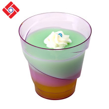 Fine China Wegwerp Party Cup, <span class=keywords><strong>Plastic</strong></span> Translucent Mini <span class=keywords><strong>Dessert</strong></span> Jelly Pudding <span class=keywords><strong>Containers</strong></span>
