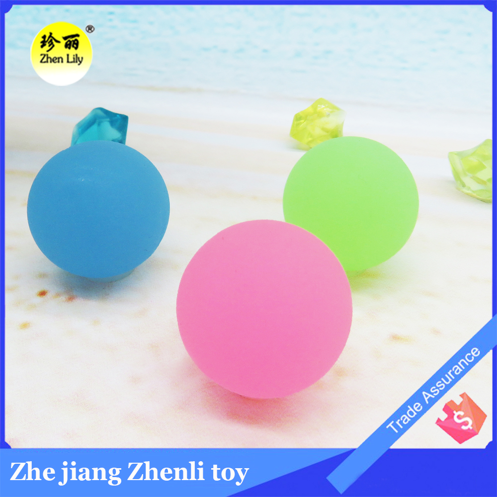 Hot wholesale Summer Playing Popular rubber glow ball bouncing ball