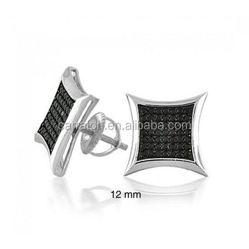 341480e5509e Pendientes de plata esterlina mens hip hop pendientes micro pavimentar de  la joyería de los hombres