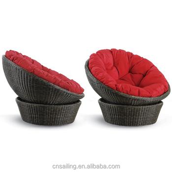 All Weather Rattan Garden Wicker Papasan Chair Moon Chair Buy