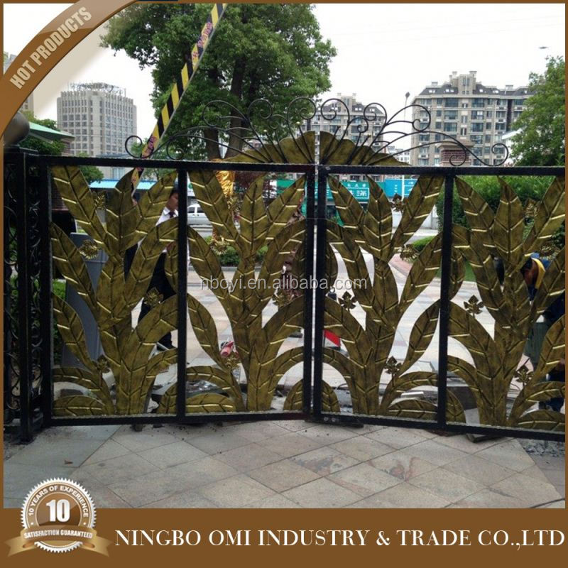 Garden aluminium fence and gates/outdoor latest main gate designs/used driveway main gates india