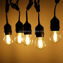 wholesale festoon lighting 15m waterproof outdoor led string lights with s14 st64 edison bulbs for can be cutomized length