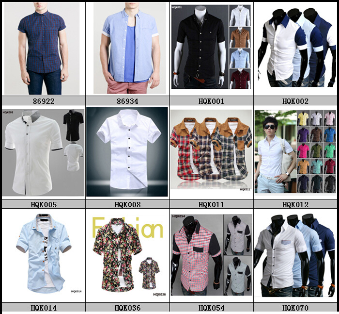 New style different types shirts men with short sleeve for Types of shirts for men