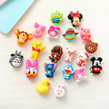 10pcs lot Cute cartoon figure USB Data Cable Line Protector Anti Breaking Protective Sleeve For Charging