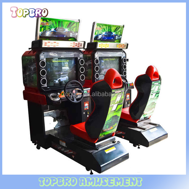 coin operated video game car racing game machine