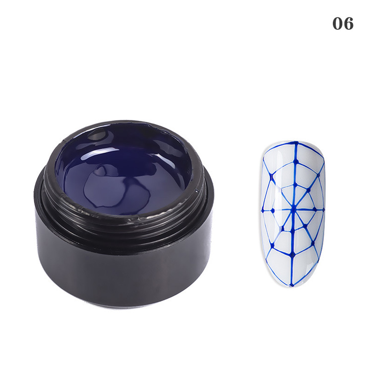 Hot selling 6 colors nail art paint DIY design wire liner drawing gel nail polish set kit colors uv gel gel nail polish