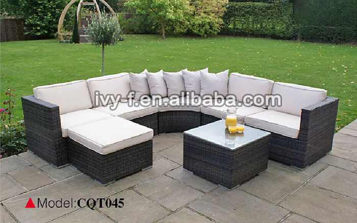 Genial Resort Patio Rattan Modern L Shape Sofa/terrace Sofa Set/outdoor Synthetic  Wicker