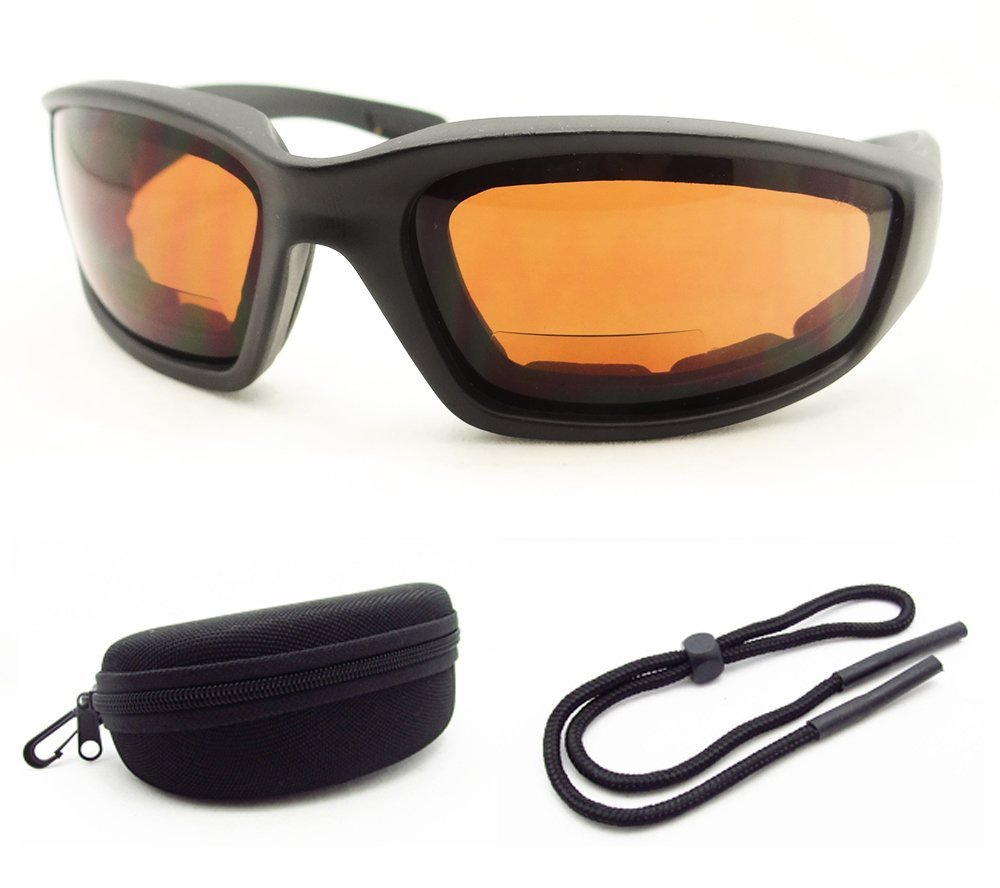 08655d409bb Z87 Motorcycle Bifocal Sunglasses 3.00 Eva Cushion Padded with Safety Blue  Blocker Lenses