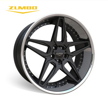 "Zumbo-A0076 Black+SSL Wheel Rim deep concave 4X4 wheels 22"" rims in alloy for car"